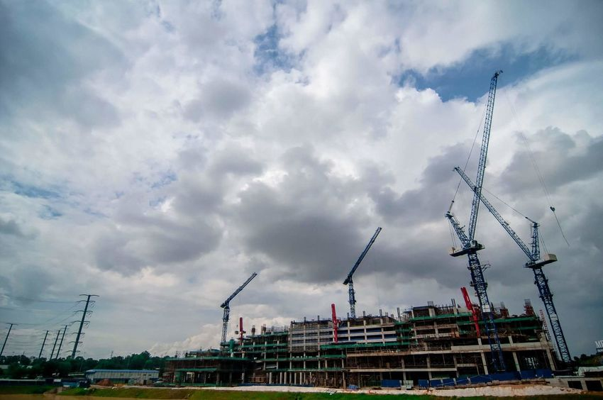 Johor Bharu,6march2017 Building With Crane Cloud - Sky City Cityscape Commercial Dock Bridge - Man Made Structure Architectural Design Getting Creative Gettyreportage Tower Crane Gettyimages Building And Sky Towercranes Gettyimagesgallery Towers And Sky Getty X EyeEm Getty+EyeEm Collection Architecturephotography Getty X EyeEm Images VSCO ContentCreativeBriefs Buildings Architecture Johor Getty Creative Sky Vscomalaysia