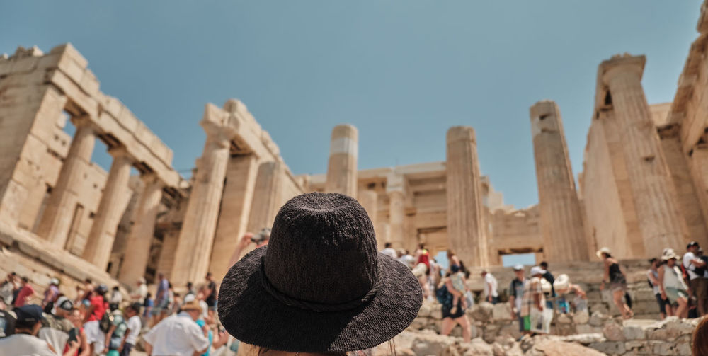 Sightseeing Landscape Lifestyle Vacation Stadium Camera Taking  Women Holding Curly Hair Athens Female View Modern Photography Beautiful Picture Travel person Screen Adult Cellphone Old Stadium Young Happy Technology Photo People Girl Greece Nature Photographing Image Photographer Mobile Hand Smart City Vintage Tourism Sky Tourist Fashion Phone