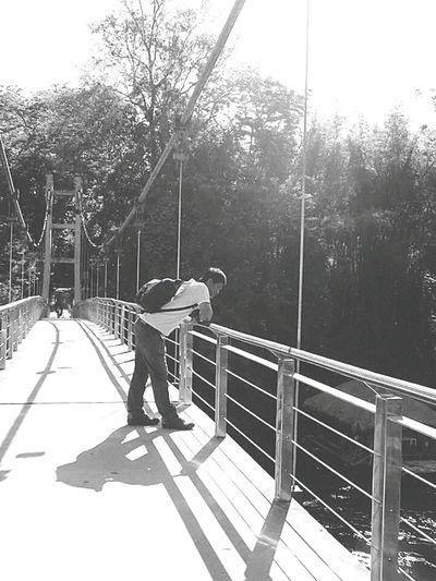 Thailand Streetphotography Street Photography Bridge Bridg Man Mana Eyeem Best Shots - Black + White EyeEm Thailand Alone Time EyeEm Best Shots - The Streets The Street Photographer - 2016 EyeEm Awards