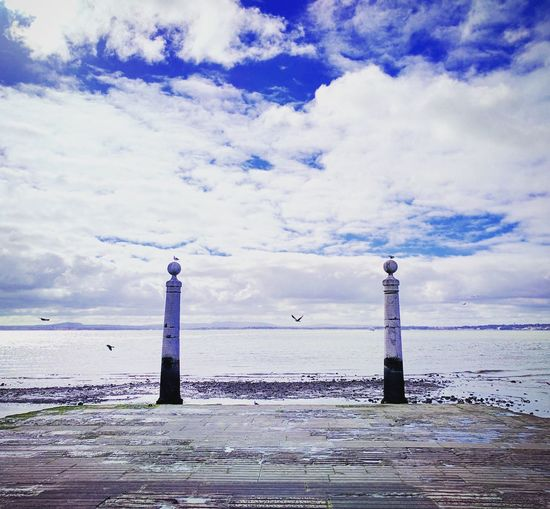 River view Lighthouse Sky Water Sea Tower Cloud - Sky Beach Nature No People Outdoors Day