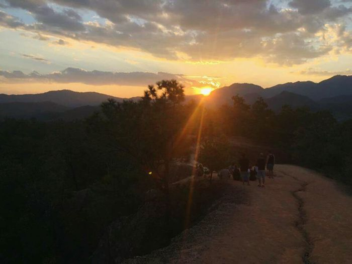 Sunset in the Outback of Thailand with my best Friends; it was a so Beatiful Nature and everything so Magical and Natural; Great Time Together Miles Away