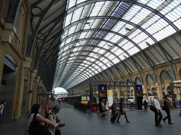 St. Pancras Station St Pancras Station Architecture Built Structure Indoors  Railroad Station Railroad Station Platform Saint Pancras Railway Station Hotel Kings Cross Tube Station Londo Pastel Sky Train - Vehicle