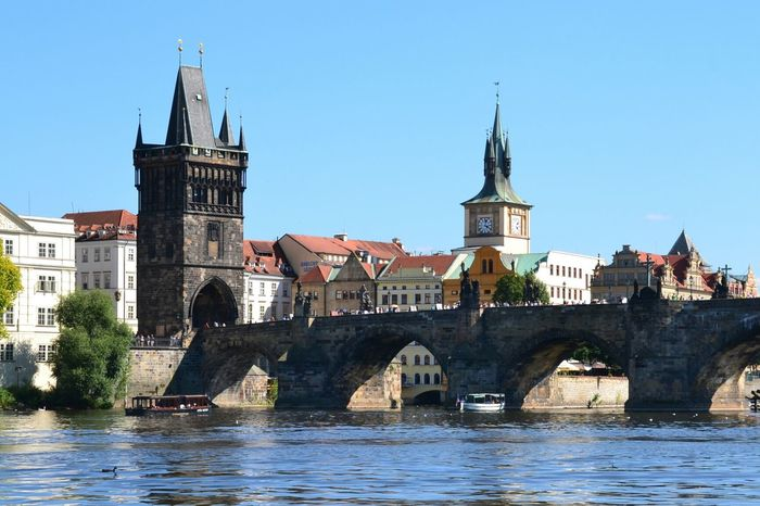 Prague Czech Republic Prague Charles Bridge Travel Destinations City Architecture Cityscape Clear Sky River
