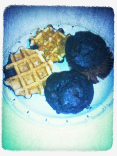 Belgium waffles & chocolate Today Chocolate Porn I Love It Sweet Bakery muffins