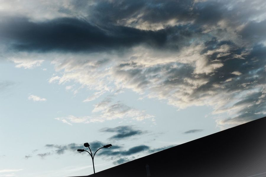Sky Cloud - Sky Nature No People Low Angle View Beauty In Nature Bird Outdoors Day Storm Rooftop Streetlight Broken Hill