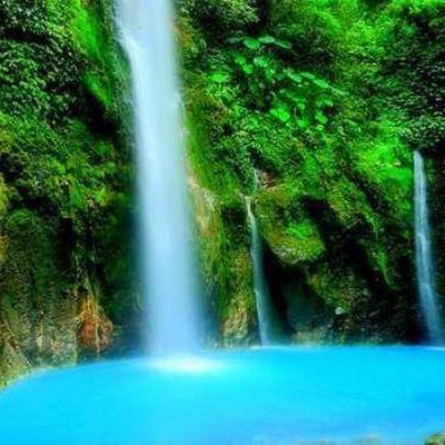 Air Terjun 2 warna Biru Putih Sibolangit Sumatera Utara beautiful Water fall nature trip travel adventure great spot Awesome water blue blood keep our nature save our world