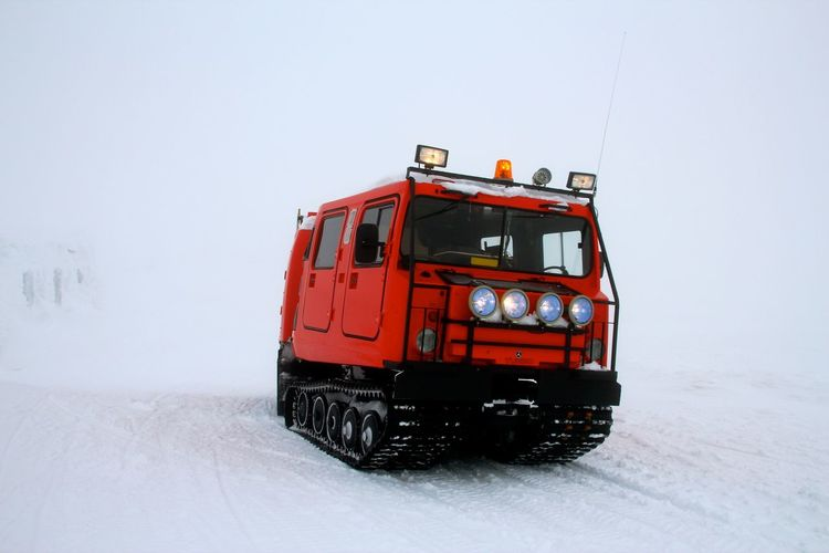 Close-Up Of Snow Vehicle