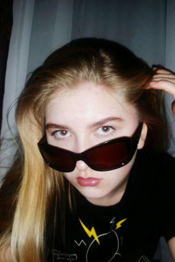 Blond Hair Portrait Looking At Camera Headshot Eyeglasses  Beautiful Woman Young Women Long Hair Close-up