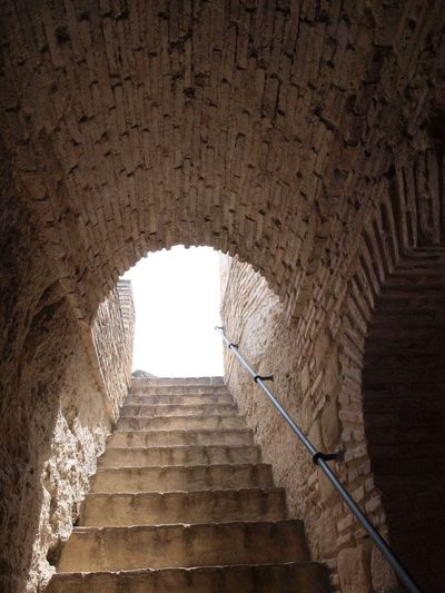 Breathing Space Ancient Arch Architecture Built Structure Day Indoors  Low Angle View No People Railing Spiral Staircase Steps Steps And Staircases The Way Forward