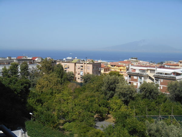 Bay Of Naples, Italy. Horizon Over Water Sea Sky Sorrento Sorrento, Italia Tree Vesuvius