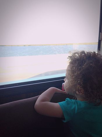 Transportation Vehicle Interior Relaxation Mobile Home Seeing The Ocean Big Water Riding Sea Florida Horizon Over Water Curly Hair Babygirl Leisure Activity Vacation Family Seeing The Sites Day One Person Headshot Sky BIG Pretty Outdoors Live For The Story Done That.