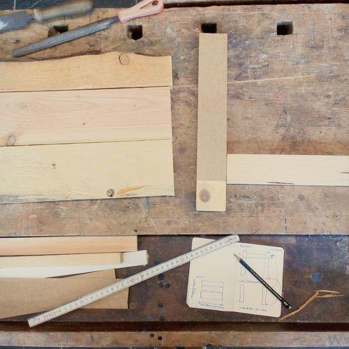 DIY Flat Lay Wood Workshop Wood - Material Ruler Close-up Tool Carpentry Carpenter Screwdriver Workbench