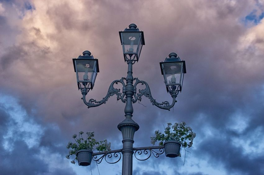 Architecture Cloud - Sky Day Low Angle View Nature No People Outdoors Pizzo Calabro Sky Storm Cloud Street Light Tree