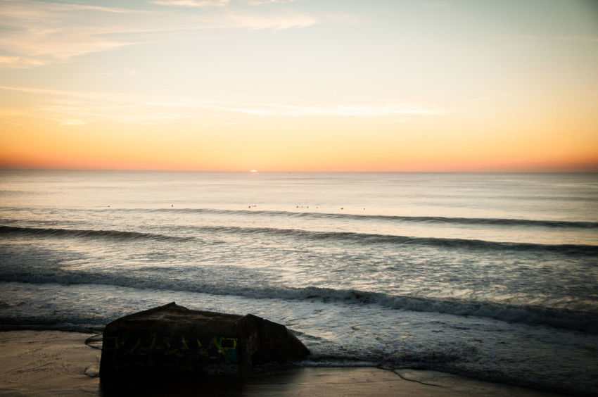 Adventure Atlantic Ocean Atmosphere Beach Coastline France Horizon Over Water Inspiration Le Gurp Ocean Outdoors Seascape Sharing  Shore Sunset Surf Surf Surfing Tranquil Scene Tranquility Traveling Trip Vacations Water Wave