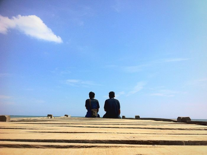 Two man. First Eyeem Photo Beach Day PhonePhotography Likeforlike Likealways