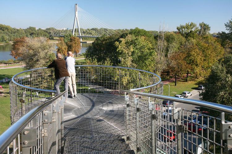 Warszawa, Warsaw Adults Only Bridge - Man Made Structure Leisure Activity Men Only Men River Suspension Bridge University Library Varsovia Warsaw Warszawa