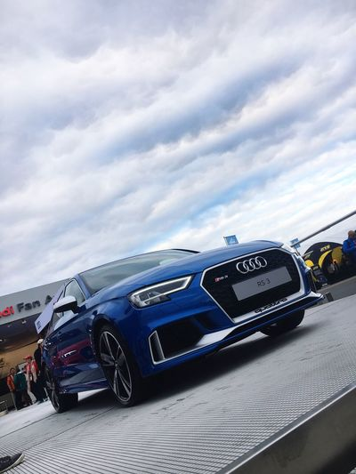 Car Land Vehicle Text Transportation Mode Of Transport Luxury Old-fashioned Retro Styled Sky Cloud - Sky No People Modern Day Outdoors DTM 2017 Rs3 Audi Quattro Blue Fan Area