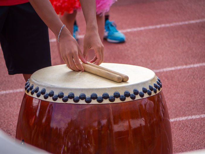 Arts Culture And Entertainment Cymbal Day Drum Drum - Percussion Instrument Drummer Drumstick Human Hand Indoors  Japanese  Music Musical Instrument Musician One Person People Performance Playing Practicing Real People School Skill
