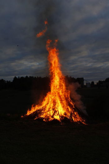Another picture of our Bonfire here in Finland. Outdoors Canon Sky Nordic Countries Finnish Summer Landscape No People Juhannuskokko Juhannus Midsummer Night Midsummer EyEmNewHere