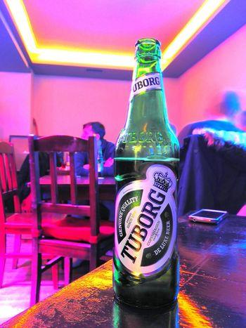 Tuborg Beer Pub Relaxing Fun Hanging Out Taking Photos Enjoying Life Drinking Beer Beer Time Nightshot Night Lights Nightphotography
