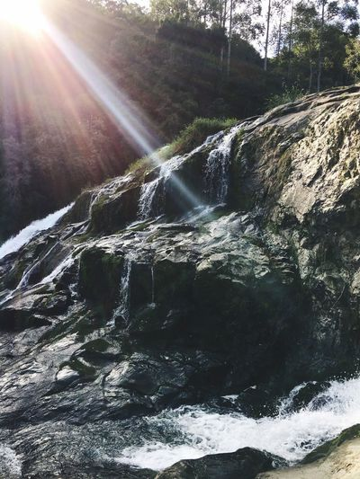 Sun☀️ Waterfall Nature Flowing Water Beauty In Nature Motion Water EyeEmNewHere