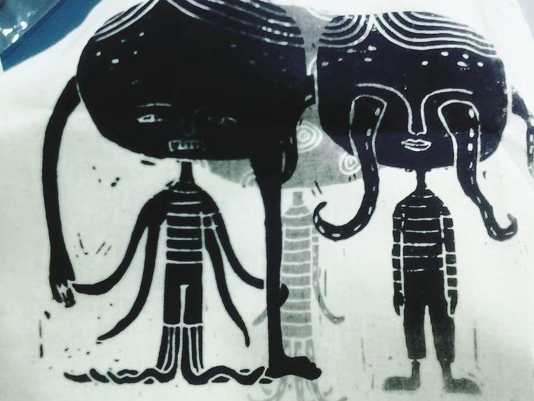 """themistakeirefusetoleaveasamistake"" Art, Drawing, Creativity Silkscreen Print"