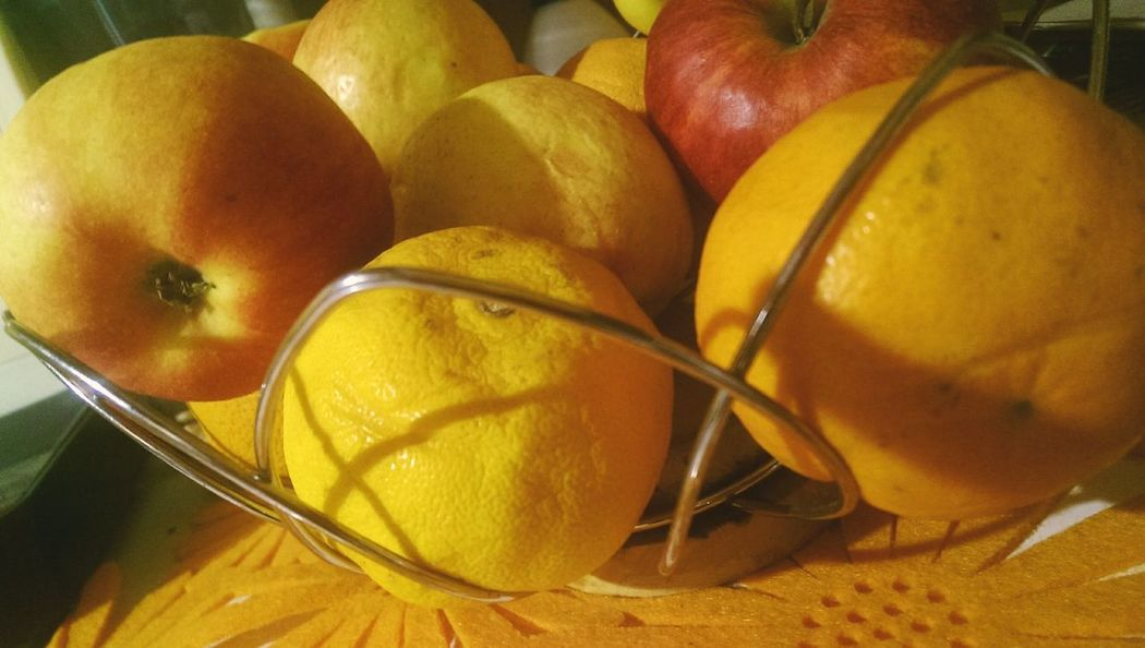 Fruit Day Fruits Orange Apple Yellow Food Freshness No People Indoors  😃.
