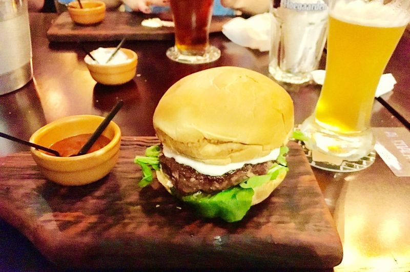 Lamb burguer Lamb Food And Drink Table Food Drink Drinking Glass Freshness Indoors  Ready-to-eat Fast Food Temptation Hamburger Burger Food Stories