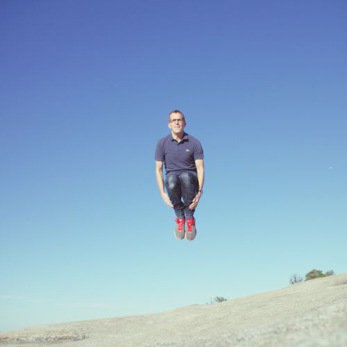 Clear Sky One Person Casual Clothing Leisure Activity Outdoors Young Adult Energetic Stone Mountain Park Ga Nature Travel Mid-air Jumping Jump The Portraitist - 2017 EyeEm Awards