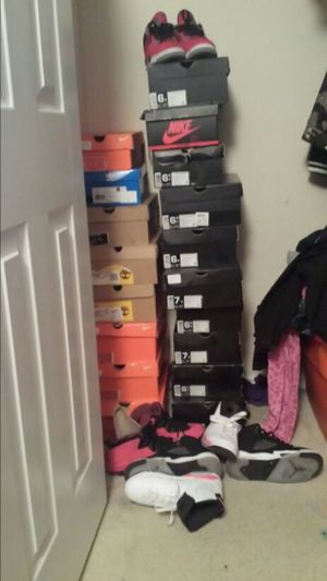 He say he lik a girl that can match his shoe game so i had to Jordans Lebrons More Coming Soon