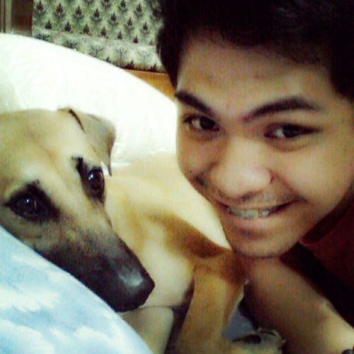 """Selfie with my Baby Potpot :""""> Cuddlingwithhim"""