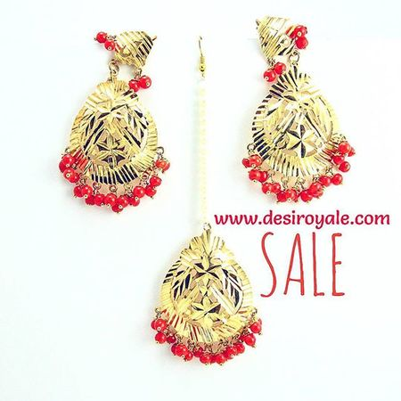 http://www.desiroyale.com Check out our Beautiful Goldplated Earrings with Tikka  upto 60%off Sale Free Shipping  Desi Desiroyale Wedding Punjabi Picoftheday Photooftheday Indianbride Accessories Jewelry Buy Online  Shopping Desiweddings Anarkali Burningman Anthropologie Zara Diwali rakhi gift bride stones orange