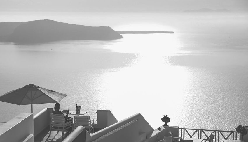 Black & White Black And White Black And White Collection  Black And White Photography Blackandwhite Blackandwhite Photography Blackandwhitephotography Clear Sky Holiday Holiday POV Horizon Over Land Horizon Over Water Island Landscape Outdoors Relaxation Santorini Sea Sunset Vacation The Great Outdoors - 2016 EyeEm Awards The Essence Of Summer A Bird's Eye View Monochrome Photography Sommergefühle Black And White Friday