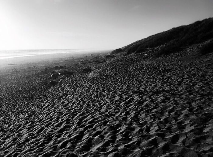 Oregon Blackandwhite Beachphotography Landscape Sand Views Beach Oregon Coast Landscapes Perspective Landscape Photography Black And White Beach Photography Scenic View Scenic Nature Photography Landscape #Nature #photography Nature Sky Patterns In Nature