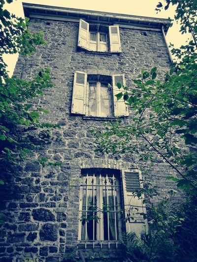 Architecture Building Exterior Built Structure Day Outdoors Window Low Angle View No People Sky Urbex Abandonned House Abandonned Building Abandoned Places Manoir Aux Statues The Week On EyeEm