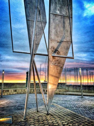 Metal Sails at sun rise Dunlaoghaire Sea And Sky Ireland Dublin, Ireland