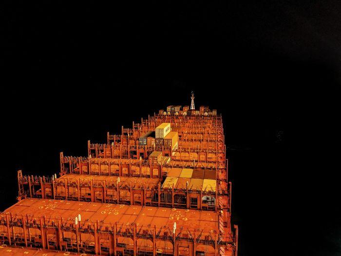 Nautical Theme Nautical Vessel Cargo Ship Life Onboard Nightphotography Long Exposure Night Shot Night Sailing Dark Night Dark Sky Illuminated Black Background