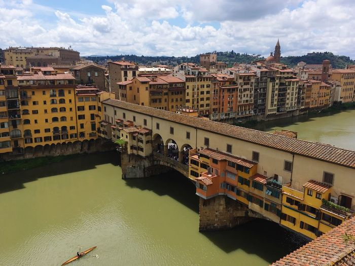 Ponte Vecchio Arno  Building Exterior Architecture Built Structure Water City River Building Cityscape Bridge Waterfront