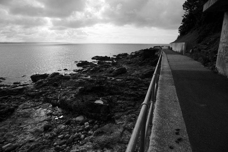 Mind The Rail Beach Blackandwhite Cloud - Sky Day Horizon Horizon Over Water Nature Rock Sea Sky Water