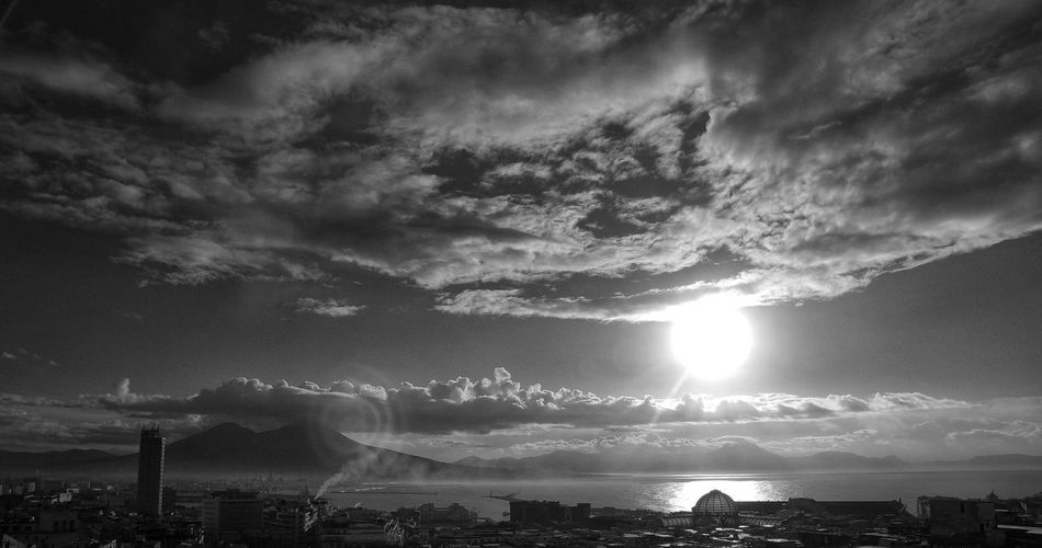 Skyline Naples, Italy Sky Sunset Cloud - Sky City Cityscape Blackandwhite EyeEmNewHere