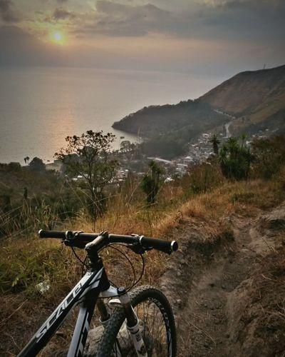 Lake View Lake Atitlán Mountains Mountain Biking