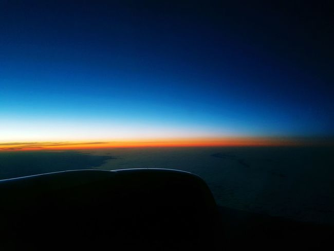on the sky GalaxyNote8 Astronomy Sea Water Blue Aerospace Industry Airplane Sunset Sky Horizon Over Water Landscape Galaxy