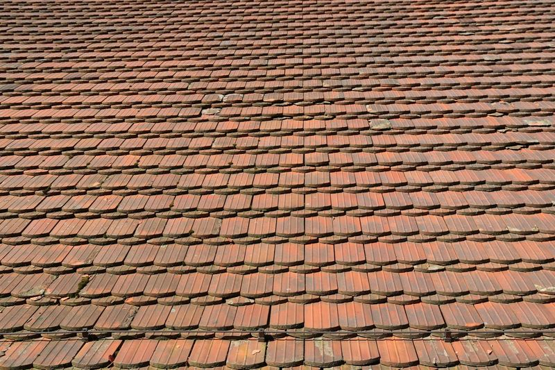 Full Frame Shot Of Old-Fashioned Roof