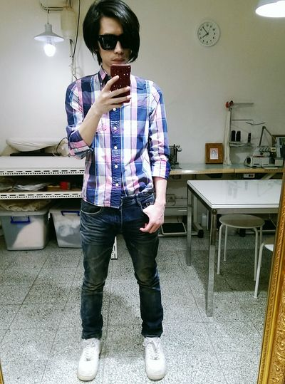 Friday with a&f A&f Abercrombie & Fitch  Outfit Plaid Shirt  Taipei Taiwan