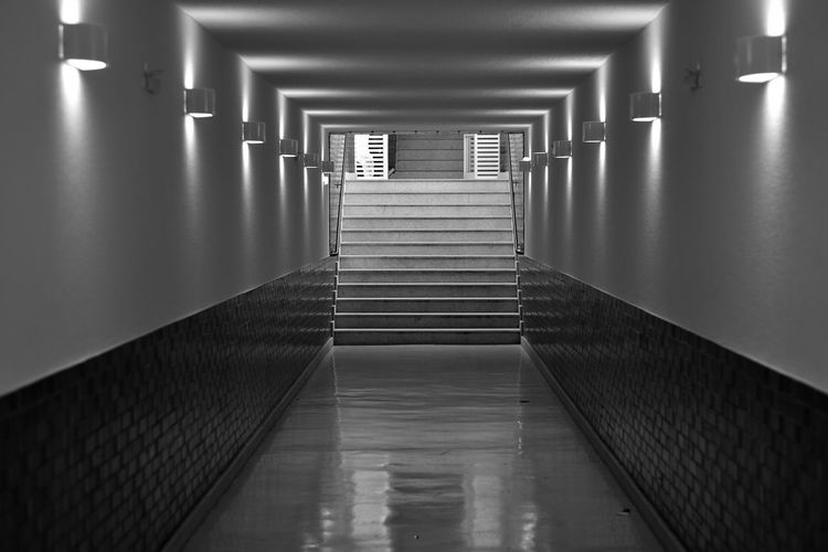 EyeEm Best Shots EyeEmSelect 18-105mm Black & White Campinas Campinas, São Paulo, Brasil Nikon Stairs Arcade Architecture Blackandwhite Blackandwhite Photography Building Built Structure Corridor Direction Illuminated Indoors  Nikonphotography Staircase Subway The Way Forward Tunnel Underpass Wall - Building Feature The Street Photographer - 2018 EyeEm Awards The Architect - 2018 EyeEm Awards HUAWEI Photo Award: After Dark A New Beginning My Best Photo The Art Of Street Photography