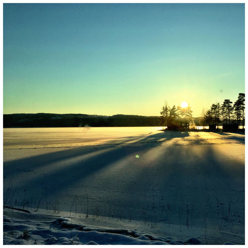 Winter Cold Snow Värmland Not Warm Its Cold Outside Iponeography White Sweden Landscape Landscape_Collection Landscape_photography Sun Sunset Warm Landscapes With WhiteWall Ice Age