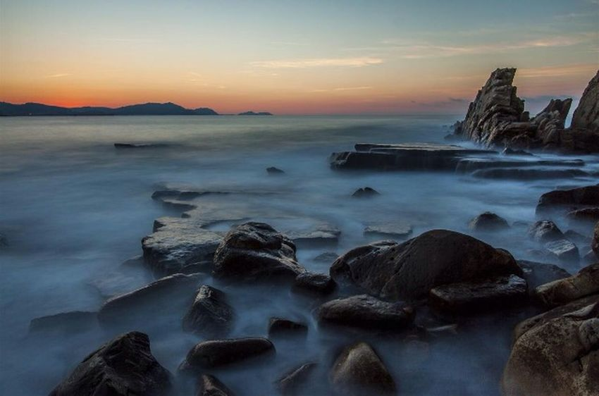 Rocher Brouillard Eau Mer