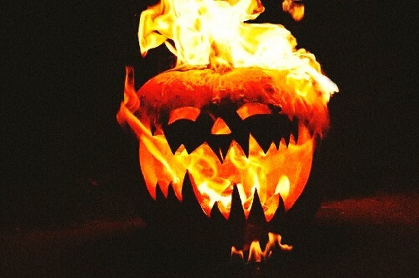 Halloween Putting Out A Fire Pumpkinhead Pumkinonfire