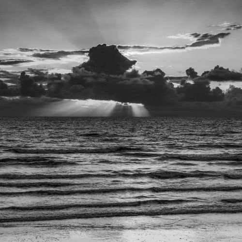 Sunset at Ynyslas, Wales, UK Cloud - Sky Sky Water Beauty In Nature Sea Scenics - Nature Motion Wave Nature No People Waterfront Land Power Tranquil Scene Tranquility Horizon Over Water Outdoors Power In Nature Sport Breaking Wales Sunset Blackandwhite