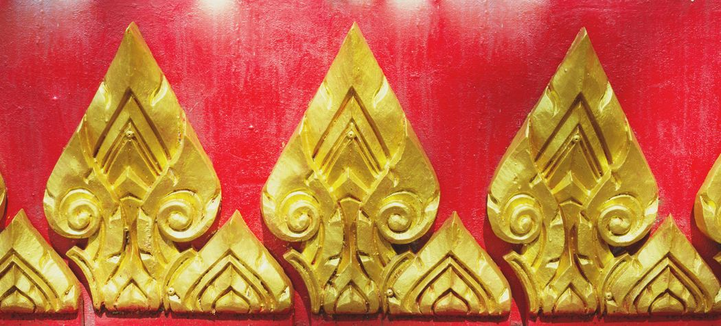 Line thai at Raipru Temple Trang. Gold Line Thai Temple Chruch Thailand Trang Butiful Art No People Close-up Multi Colored Day Indoors